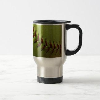 Yellow Softball Fan Travel Mug