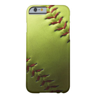 Yellow Softball Fastpitch Barely There iPhone 6 Case