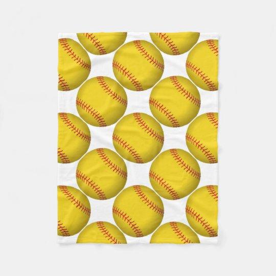 yellow softball fleece blanket zazzle com