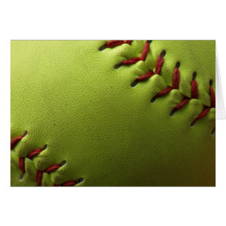 Yellow Softball Inside Fade Card