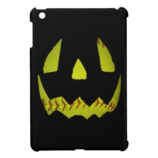 Yellow Softball Jack O'Lantern Face iPad Mini Case