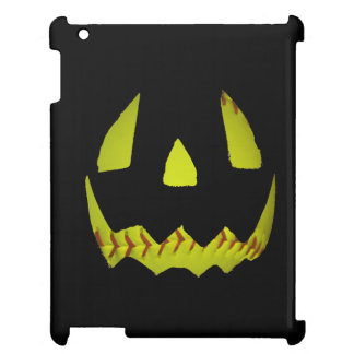 Yellow Softball Jack O'Lantern Face Case For The iPad