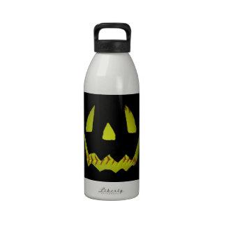 Yellow Softball Jack O'Lantern Face Drinking Bottle