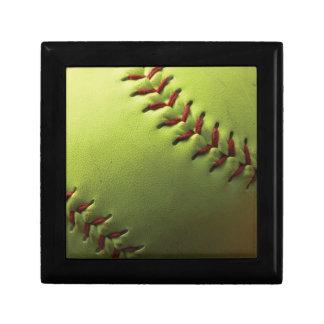 Yellow Softball Keepsake Box