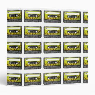Yellow Softball Label Cassette Vinyl Binders