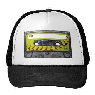 Yellow Softball Label Cassette Mesh Hat