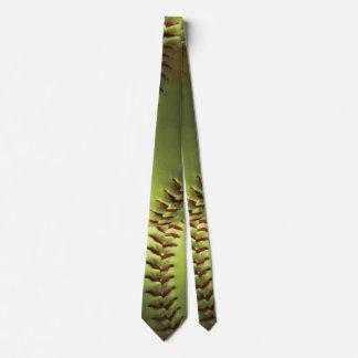 Yellow Softball Layered Tie