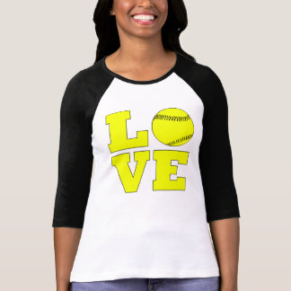 Yellow Softball Love Custom Shirt