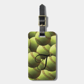 Yellow Softball Multi Wallpaper Bag Tag