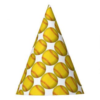 Yellow Softball Party Hat