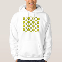 Yellow Softball Pattern Hoodie