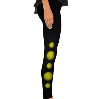 Yellow Softball Pattern Legging