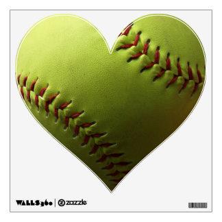 Yellow Softball Photo Capture Wall Sticker