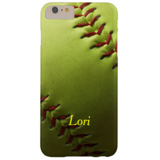 Yellow Softball Shaded Barely There iPhone 6 Plus Case