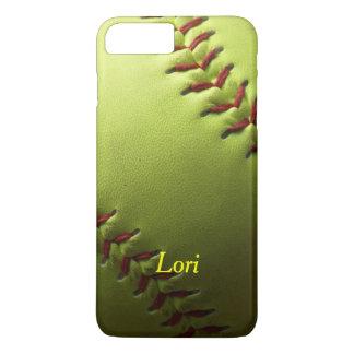 Yellow Softball Shaded iPhone 7 Plus Case