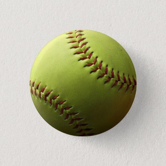 Yellow Softball Single Button