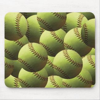 Yellow Softball Wallpaper Mouse Pad