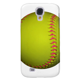 Yellow Softball With Pink Stitches Samsung S4 Case