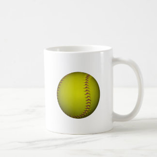 Yellow Softball With Purple Stitches Coffee Mug