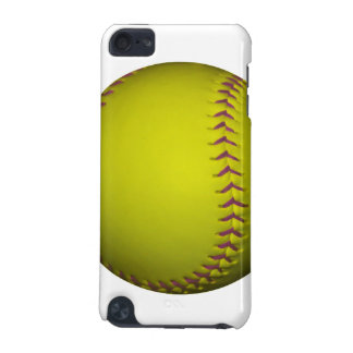 Yellow Softball With Purple Stitches iPod Touch 5G Cover
