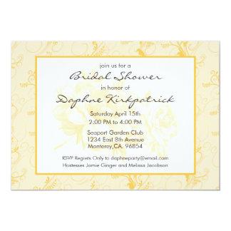 Yellow Solar Power Floral Bridal Shower Invitation