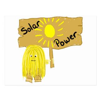 Yellow Solar Power Postcard