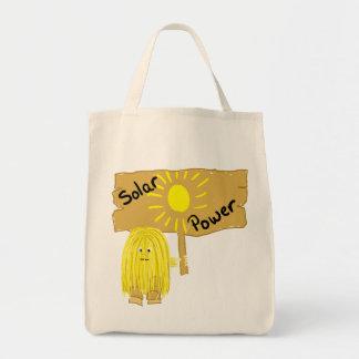 Yellow Solar Power Tote Bag
