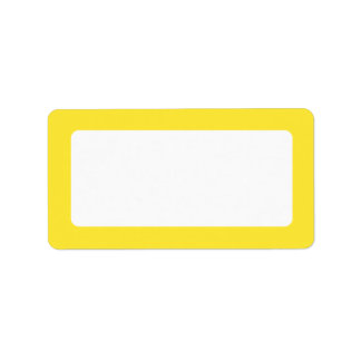 Yellow solid color border blank address label