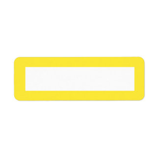 Yellow solid color border blank label