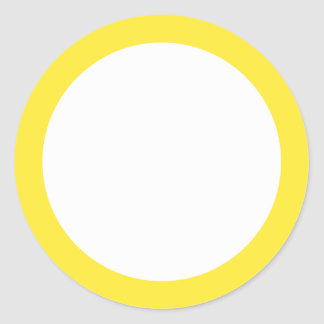 Yellow solid color border blank sticker