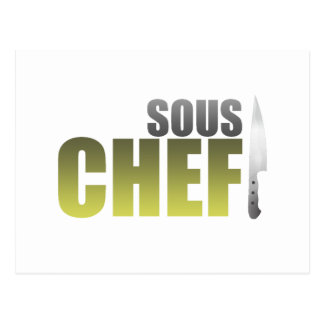 Yellow Sous Chef Postcard