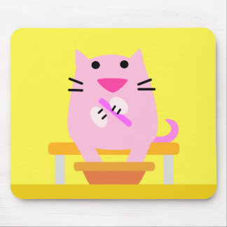 Yellow Spa Cat Mouse Pad