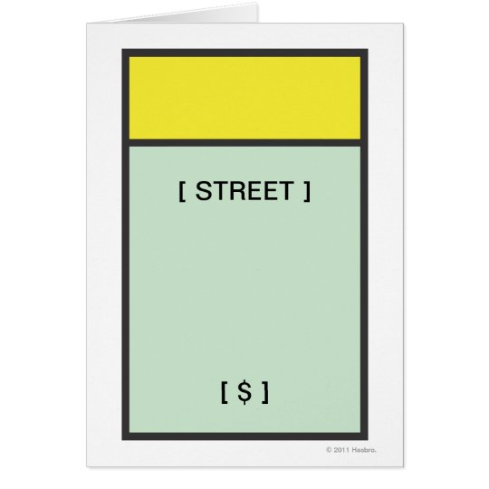 Yellow Space Card