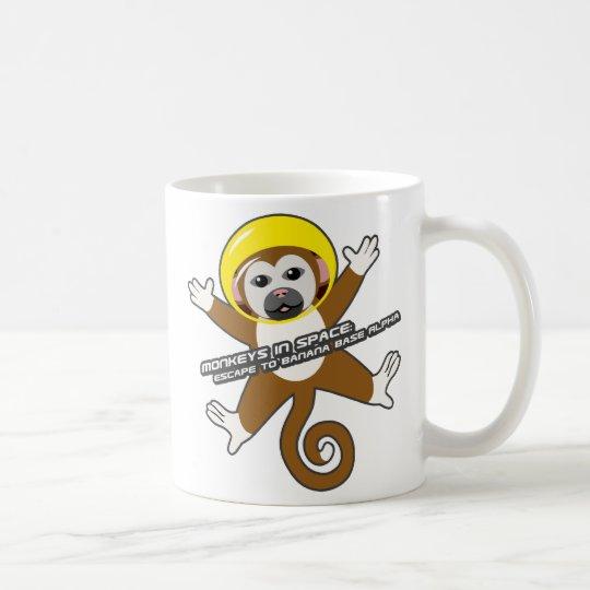 Yellow Space Monkey Mug