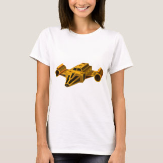 Yellow spaceship with wings T-Shirt