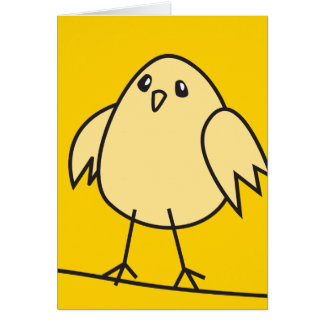 yellow sparrow greeting cards