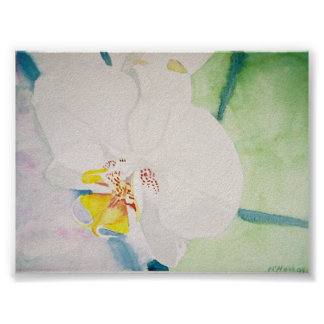 yellow speckeled orchid print