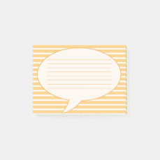 Yellow Speech Bubble Post-it Notes