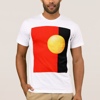 Yellow sphere on red and black T-Shirt