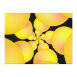 Yellow Sphere Spiral Canvas Print