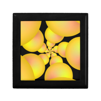 Yellow Sphere Spiral Gift Box