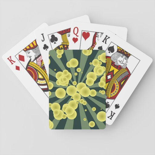 Yellow spheres card decks