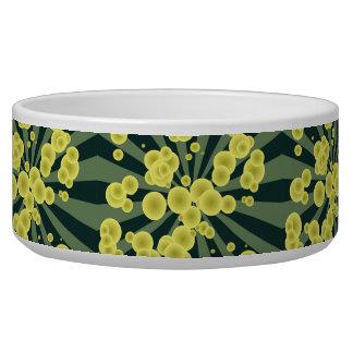 Yellow spheres pet food bowl