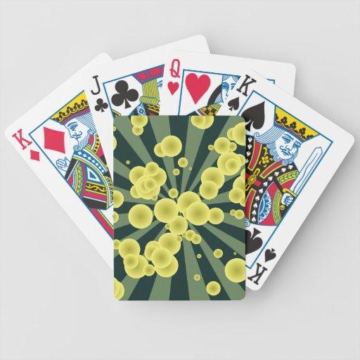 Yellow spheres bicycle card decks