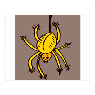 Yellow Spider Postcard