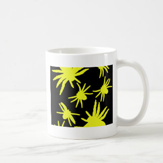 Yellow Spiders With Black Background Coffee Mug