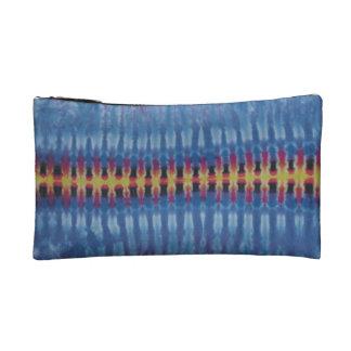 Yellow Spine Blue Tie Dye Wristlet
