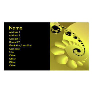 Yellow Spiral Circles Cool Abstract Business Cards