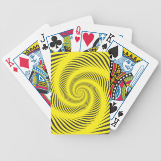Yellow Spiral Game Bicycle Playing Cards