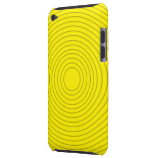 yellow spiral illusion ipod touch iPod touch case